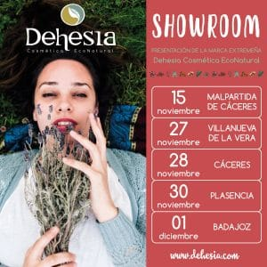 cartel showroom cosmética econatural Extremadura